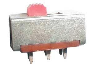 Přepínač posuvný šoupátkový 2pol./6pin rozměry 20x13x14mm
