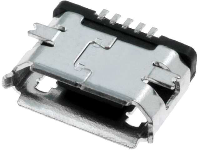 USB micro (mikro) konektor B-ZK, zásuvka, SMD, verze 2.0, telefon, tablet, náhradní
