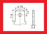 Akumulátor olověný gelový 6V/12Ah bezúdržbový zapouzdřený rozměry kontaktu