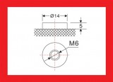 Baterie olověná gelová 12V/40Ah MOTOMA nabíjecí bezůdržbový akumulátor průměr kontaktu