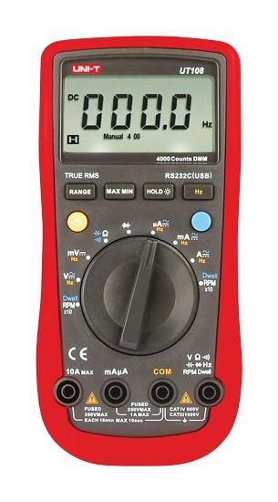Digitální multimetr UT-108, autodiagnostika - připojení k PC (RS232)
