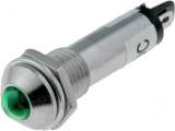 Kontrolka LED 12V DC @10mm zelená )