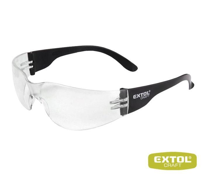 Ochranné brýle čiré EXTOL UV, pracovní, vysoce odolné proti nárazu, s ochranou proti poškrábání a UV záření