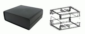 Plastová krabička KP8 rozměry 70 x 150 x 110mm ventilační otvory