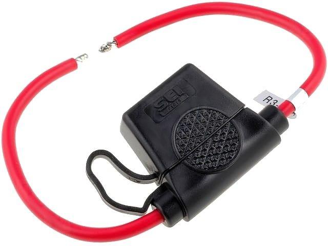 Pojistkové pouzdro držák nožové pojistky AUTO-PL+KRYT kvalitní precizní, Max. proud: 30A, na kabel s krytem