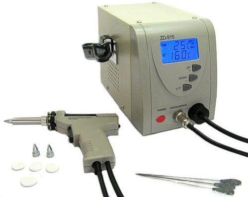 Odpájecí stanice s odsávačkou ZD915 a regulací teploty, řízení mikroprocesorem, přesná teplota