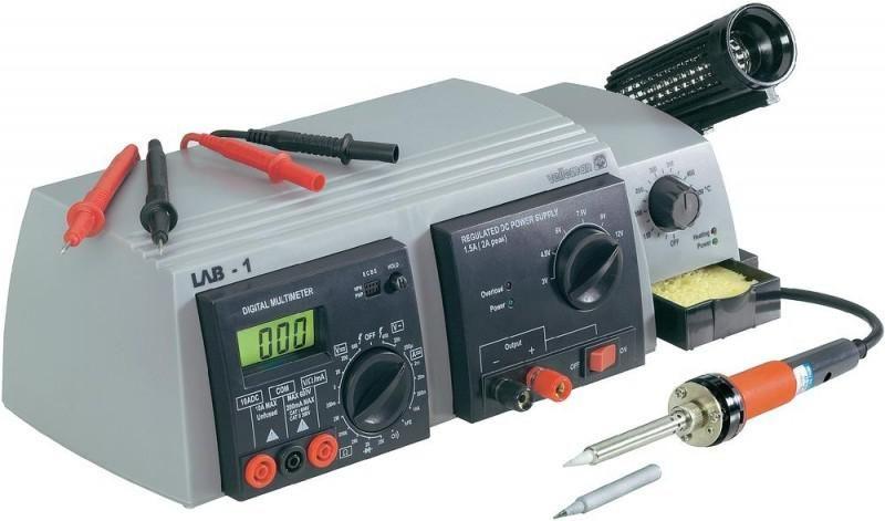 Pájecí stanice LAB-1 multifunkční - páječka-zdroj-multimetr 3 v 1, Mikropájka + Síťový zdroj a digitální multimetr v jednom
