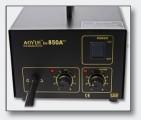 Pájecí stanice páječka horkovzušná vyfoukávačka 850A++ AOYUE, membranový kompresor, Teplotní rozsah 100 °C až 550 °C, Antistatické provedení, pro SMD součástky, horkovzduch