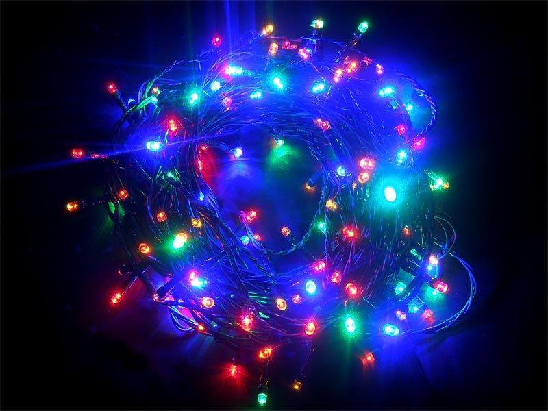 Řetěz vánoční dekorativní 150 LED 7W 20m RXL3 barevná IP44 vniřní, vícebarevný na stromek, délka osvětleného kabelu: 15 m dlouhý