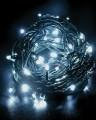 Řetěz vánoční 100 LED řetěz, 10m, studená bílá, časovač