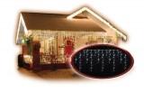 Řetěz vánoční krápníky Solight LED venkovní závěs, rampouchy, 120LED, bílá