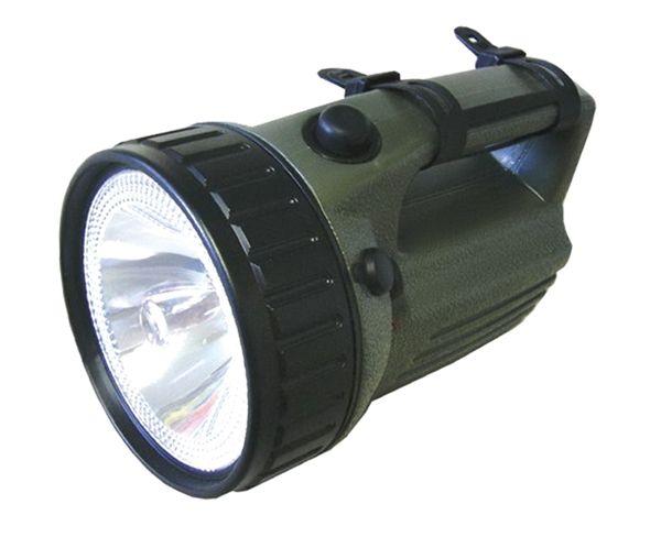 Svítilna nabíjecí ruční LED (10W) nabíjecí 3810 doba svícení 25 h, olověný akumulátor 4 V/4 Ah, nabíjení z automobilu, dosvit 400m !!!, odolnost při nešetrném zacházení (prach a špína)