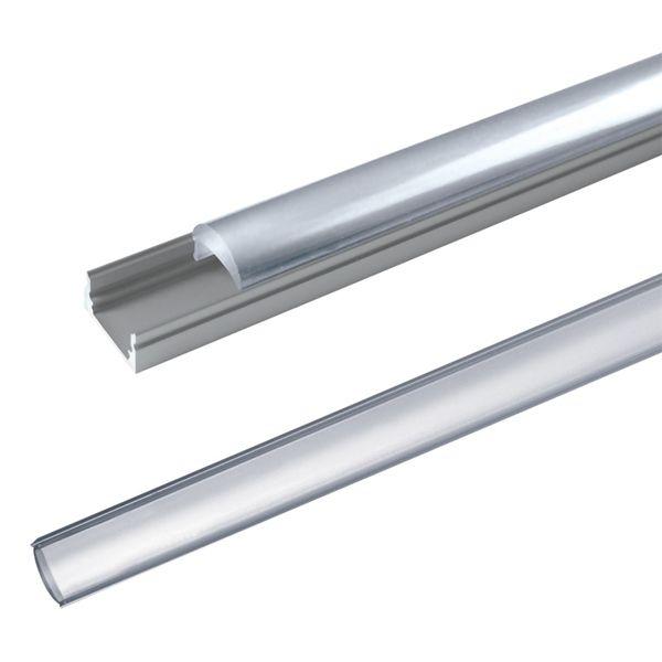 AL lišta-profil pro LED AL60 + plexi (vypouklé) k přisazení 17,1x13mm l=2m
