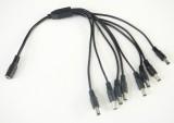 DC rozbočovač napájecí konektory průměr 2,1/5,5mm se 2, 4, 5 nebo 8 výstupů, délka kabelu 40cm VYBERTE VARIANTU