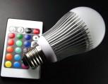 LED žárovky RGB a barevné