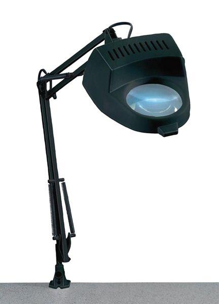Lupa stolní kulatá ( svorka ) 4diop. žárovka 60W/ E27, se skleněnou čočkou, 4 dioptrie