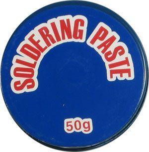 Pájecí pasta, kalafuna - tavidlo pro pájení 50g v kovové misce omyvatelná lihem