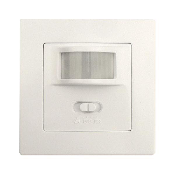 Pohybové čidlo-senzor PIR do krabičky místo vypínače 230Vstř./500W pro LED osvětlení, dosah až 8m, 160°, spíná žárovky i zářivky, LED žárovky