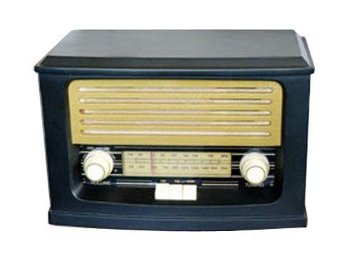 Retro stolní radiopřijímač ORAVA RR52, stereo příjem AM/FM, napájení 230V AC
