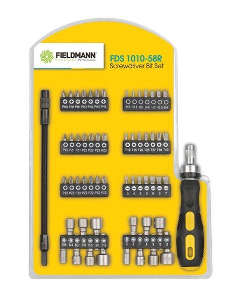Šroubovák+bity SADA FDS 1010-58R FIELDMANN + flexibilní nástavec