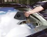 Vyhřívání automobilových oken 12V 3in1 přídavné topení TYP-1, topení/ventilátor/LED lampa, napájení 12V/180W