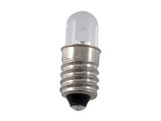 LED žárovka závit malý e10 studená bílá 4-24V, 18 000mcd, 30°, náhrada za klasické žárovky, žárovička