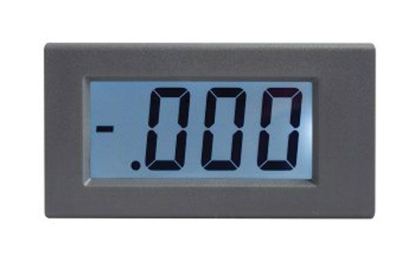 Panelové měřidlo ampermetr LCD 1A WPB5035-DC, s bílým podsvětlením, rozměry 80 x 42,5mm