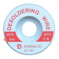 Pásek Cu punčoška k odsávání cínu 1mm/1,5m