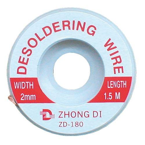 Pásek Cu měděná punčoška k odsávání cínu průměr 2mm/1,5m