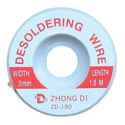 Pásek Cu měděná punčoška k odsávání cínu průměr 3mm/1,5m