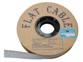 Plochý šedý kabel AWG28-34, rozteč 1,27mm
