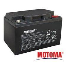Baterie olověná gelová 12V/40Ah MOTOMA nabíjecí bezůdržbový akumulátor kontakt