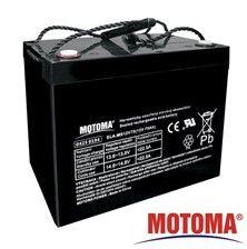 Baterie olověná gelová 12V/75Ah nabíjecí bezůdržbový akumulátor MOTOMA