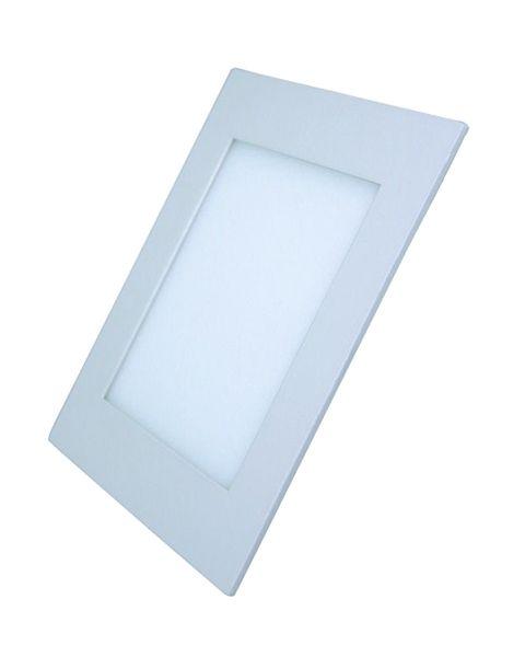LED panel mini 6W čtvercový do podhledu + trafo 230V 400lm, varianty 3000K a 4000K, tenký, kulatý, bílá