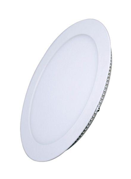 LED panel mini 6W kulatý do podhledu + trafo 230V 400lm, 3000K denní neutrální bílá, tenký, kulatý, bílé