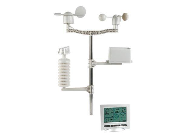 Meteoroligická stanice SOLÁRNÍ + PC ROZHRANÍ WS3008 Profi, solární napájení vysílače, srážkoměr, připojení k PC přes USB (včetně softwaru), lze zaznamenat a uložit do počítače všechny meteorologické ú