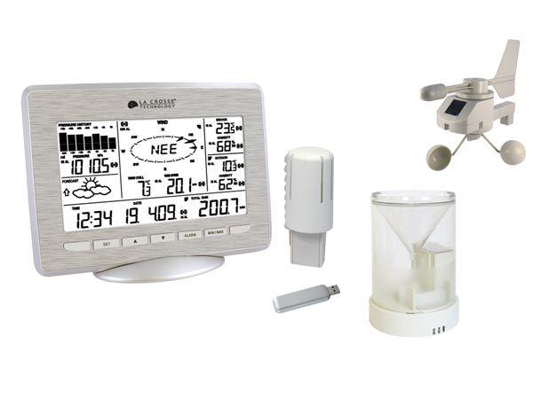PROFI Meteorologická stanice SOLÁRNÍ + USB WS28, bezdrátový teploměr, Měří a ukládá min./max. vnitřní a venkovní teplotu, vnitřní a venkovní vlhkost, barometrický tlak, rosný bod, rychlost a směr větr