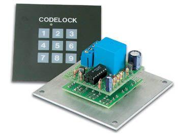 Stavebnice kódový přístupový zámek I - použití ke spínání alarmu, k otevírání dveří, venkovní provedení, napájení 9 - 15VDC nebo 8 - 12VAC