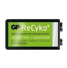 Nabíjecí baterie 9V GP (6F22) nabíjecí Recyko+ 155mAh