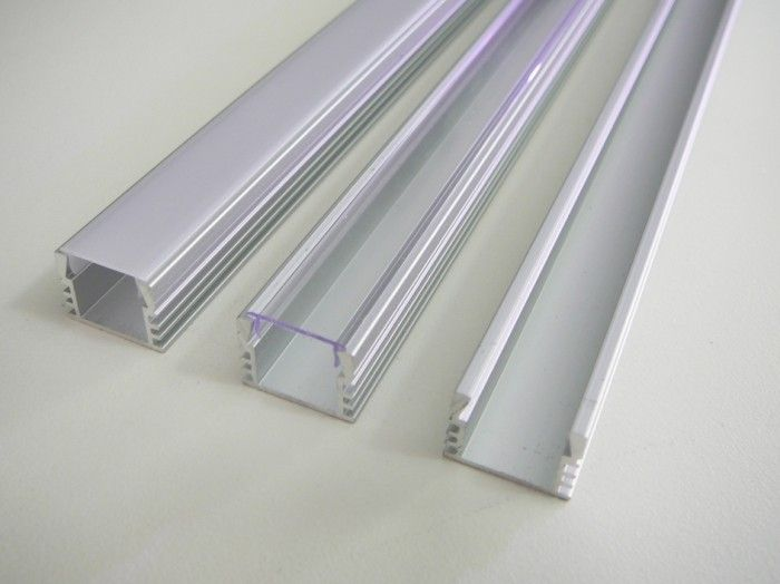 AL lišta profil N7 stříbrný pro LED + plexi k přisazení (bez krytu/čirý/mléčný) 16x12mm délka l=1m