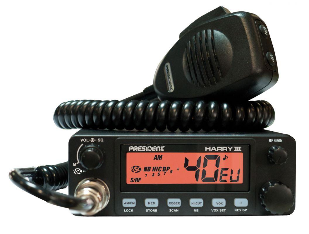 CB radiostanice PRESIDENT HARRY III ASC, vysílačka stolní 27MHz