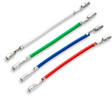 Kabely pro připojení přenosek GRAMOFONU, náhradní propojky, dráty s konektory, pocínovaná kabelová oka, přípojné kolíky