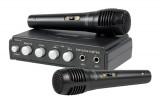 Karaoke sada König , 2x mikrofon, barva černá