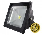 LED venkovní reflektor, 50W, 3500lm, AC 230V, černá, studená bílá