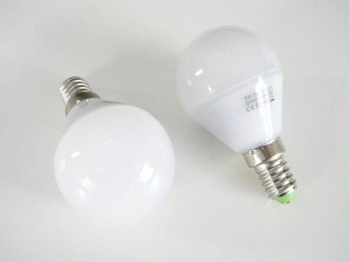 LED žárovka 230V AC  5W patice E14 úhel svitu 360°- bílá teplá