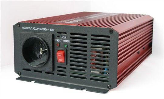 Měnič napětí DC/AC 12V/230V AC, 600W, čistá sinusovka, pro notebook, PC apod.