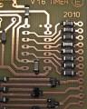 Pájecí pasta pro povrchovou montáž SMT pájení součástek SMD, Solder Paste, bezoplachová pájecí pasta, obsahuje olovo Pb, 40g, dodáváno včetně vytlačovacího pístu, příklad použití