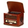 Radiopřijímač s CD Hyundai RC606 RETRO, třešeň - stolní, AM/FM