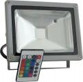 Reflektor LED venkovní 20W RGB šedý, 230V AC IP65
