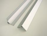 AL lišta-profil R5 - rohový pro LED pásky s nacvakávacím difusorem - barva stříbrná